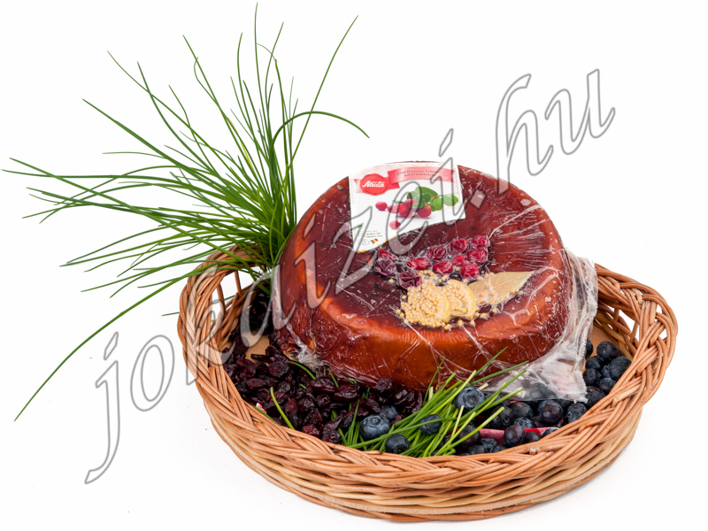 Cranberry liverpate on plate