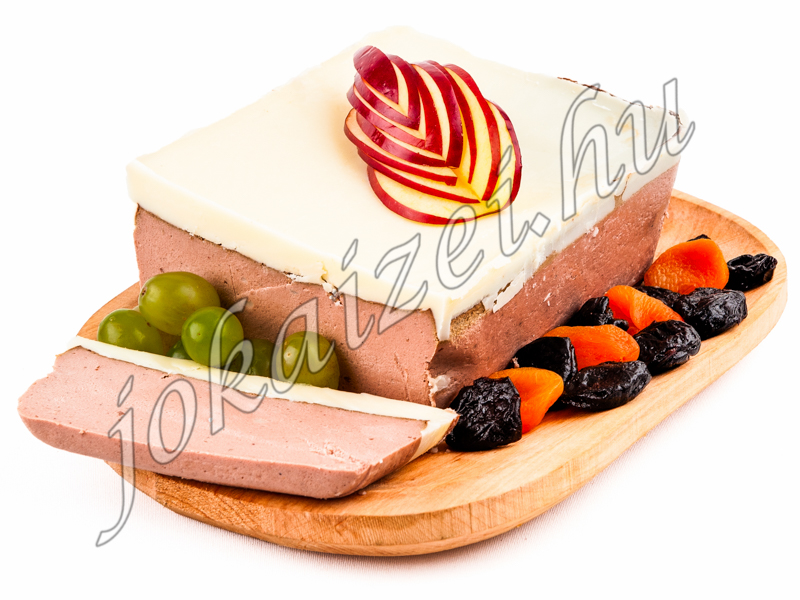 Goose liver pate with goose liver fat